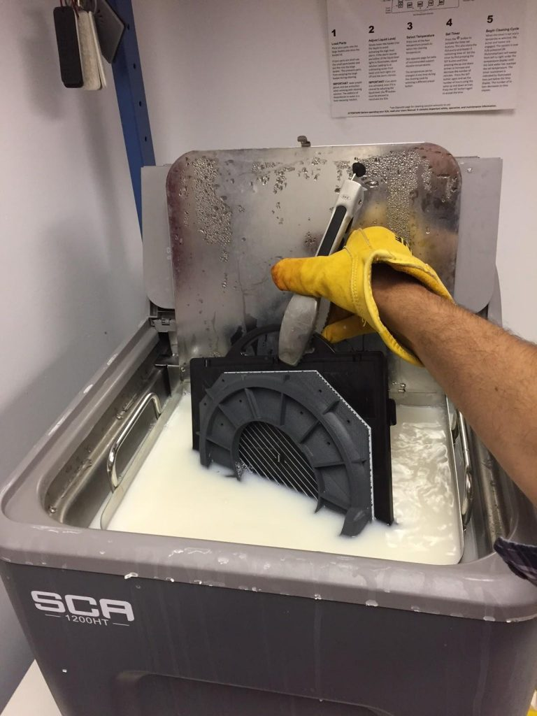 Removing the support structures inside the mold