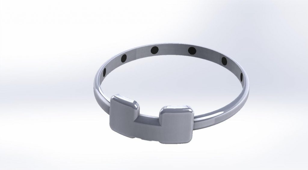 A 3D visualization of the wearable